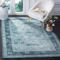 Safavieh Vintage Oriental Light Grey/ Dark Grey Distressed Silky Viscose Rug - 9' x 12'
