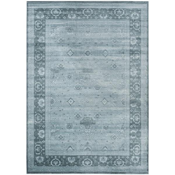 Safavieh Vintage Oriental Light Grey/ Dark Grey Distressed Silky Viscose Rug (9' x 12') - 9' x 12'