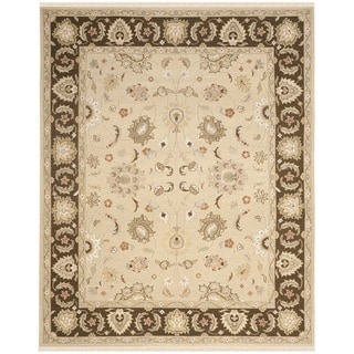 Safavieh Hand-woven Sumak Ivory/ Brown Wool Rug (9' x 12')