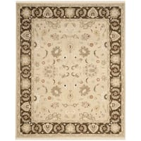 Safavieh Hand-woven Sumak Ivory/ Brown Wool Rug - 9' x 12'