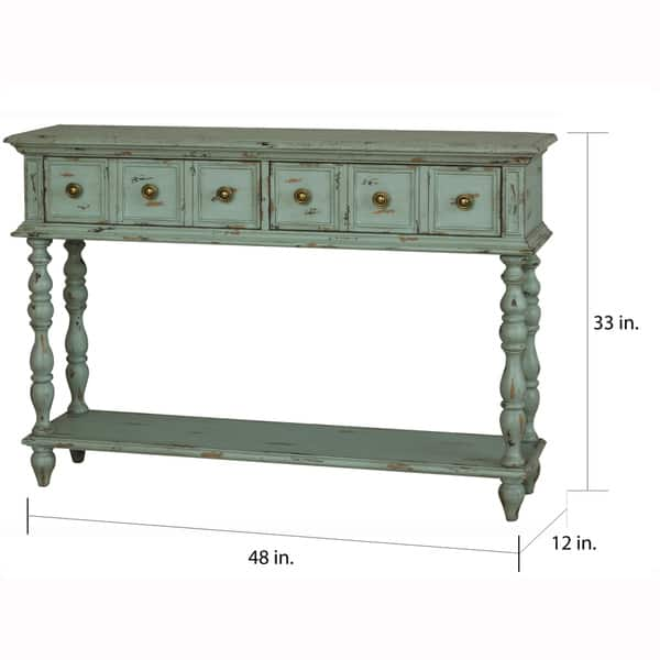 Tremendous Shop Hand Painted Distressed Turquoise Finish Console Table Ibusinesslaw Wood Chair Design Ideas Ibusinesslaworg