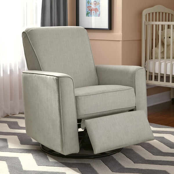 Luna Grey Nursery Swivel Glider Recliner Chair