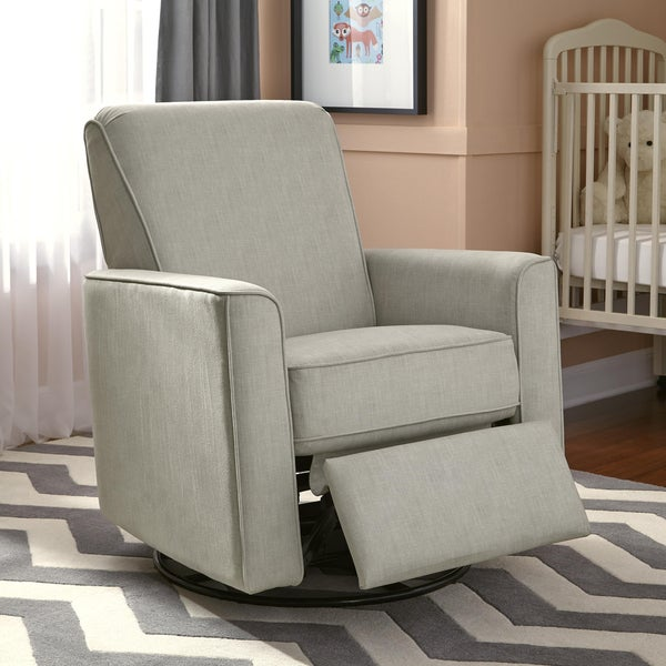 Luna Grey Nursery Swivel Glider Recliner Chair Free