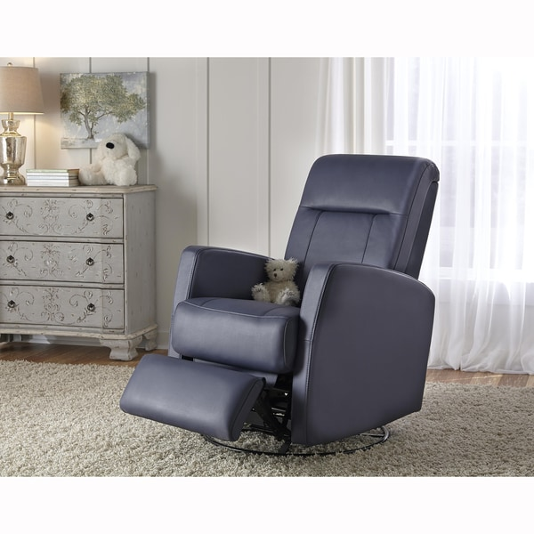 Shop Lily Purple Nursery Swivel Glider Recliner Chair