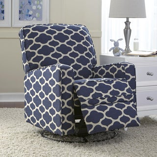 Jackson Grey And Cream Fabric Nursery Swivel Glider