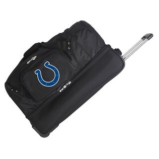 Denco Sports NFL Indianapolis Colts 27-inch Drop Bottom Rolling Duffel Bag