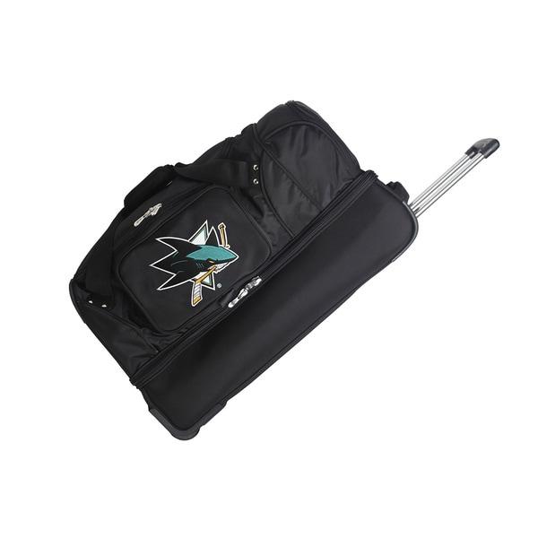 Denco Sports NHL San Jose Sharks 27-inch Drop Bottom Rolling Duffel Bag