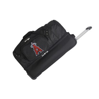 Denco Sports MLB Los Angeles Angels 27-inch Drop Bottom Rolling Duffel Bag