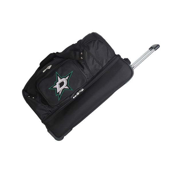 Denco Sports NHL Dallas Stars 27-inch Drop Bottom Rolling Duffel Bag