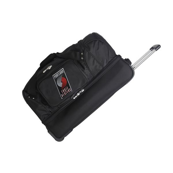 Denco Sports NBA Portland Trail Blazers 27-inch Drop Bottom Rolling Duffel Bag