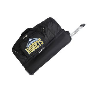 Denco Sports NBA Denver Nuggets 27-inch Drop Bottom Rolling Duffel Bag