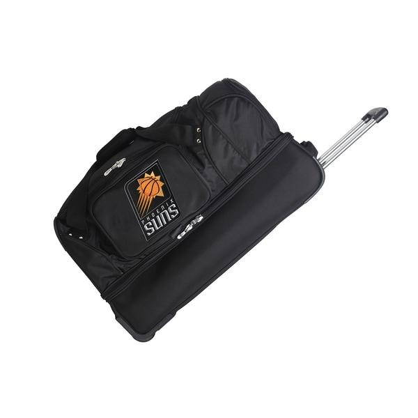 Denco Sports NBA Phoenix Suns 27-inc Drop Bottom Rolling Duffel Bag