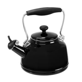 Chantal Enamel on Steel Vintage Black 1.7-quart Teakettle