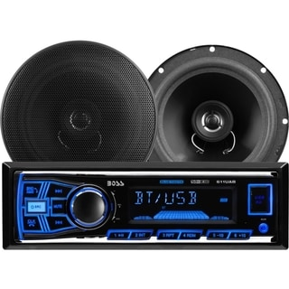 BOSS AUDIO 638BCK Package Includes 611UAB Single-DIN AM/FM Mechless B