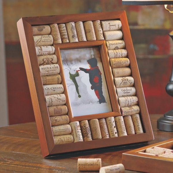 Shop Wine Cork Picture Frame Kit 4x6 Photo Free Shipping On