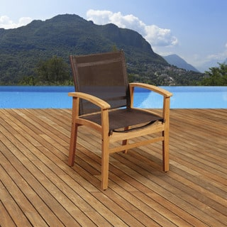 Amazonia Teak Luna Patio Dining Armchair with Brown Textile Sling https://ak1.ostkcdn.com/images/products/10055496/P17200355.jpg?impolicy=medium