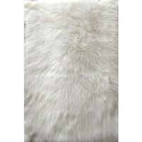 Faux Fur Sheepskin White Shag Area Rug (2'6 x 3'11) - 2'6 x 3'11