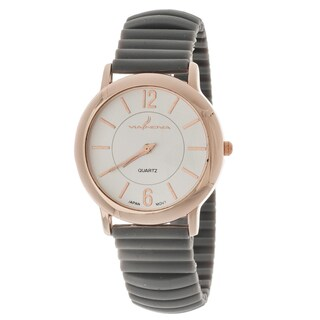 Xtreme Via Nova Women's Rose Goldtone Case/ Grey Rubber Bangle Cuff Watch