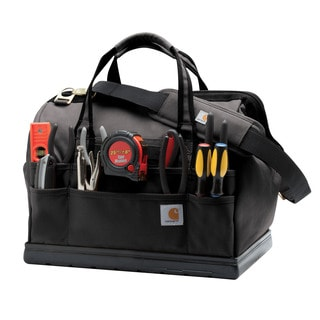 Carhartt Black Legacy 16-inch Tool Bag with Molded Base