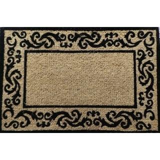 First Impression Handmade Decorative Border Filigree Doormat (2' x 3')