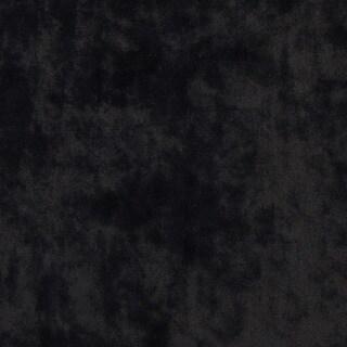 K0300E Black Solid Plush Stain Resistant Microfiber Velvet Upholstery Fabric
