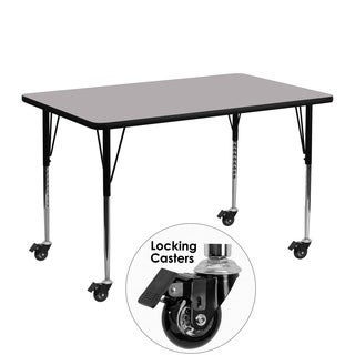 22.25-30.37-Inch Height-adjustable Laminate/ Chrome Mobile Activity Table