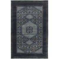 Hand-Knotted Marvin Border Wool Area Rug