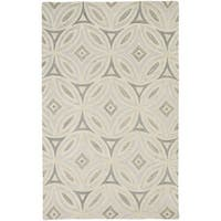 Hand-Tufted Natalee Geometric Wool Area Rug