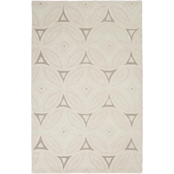Hand-Tufted Natalee Geometric Wool Area Rug