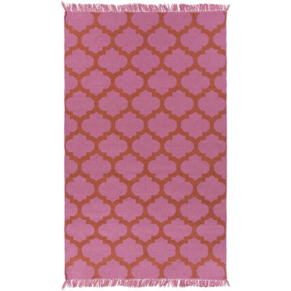 Hand-Woven Suzanne Moroccan Trellis PET Area Rug - 9' x 13'