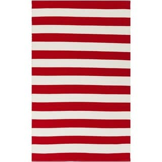 Hand-Woven Stacy Stripe Cotton Rug (2' x 3')