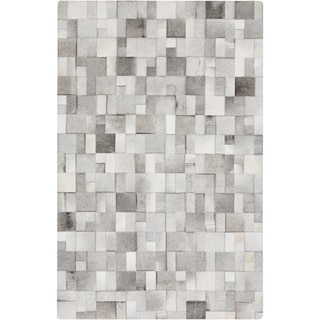 Hand-Crafted Phillip Check Hair On Hide Area Rug