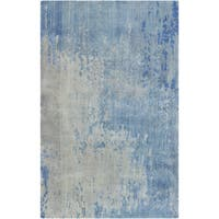 Hand-Knotted Ted Abstract Wool Area Rug - 8' x 11'