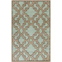 Hand-Tufted Schmit Morrocan Trellis Area Rug