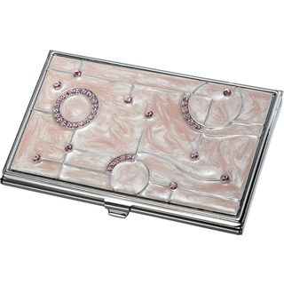 Salina Light Pink Marble and Business Card Case