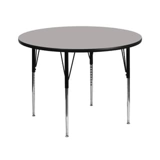 21.25-30.25-Inch Height-adjustable Laminate Round Activity Table