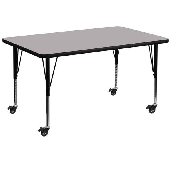 Shop Inch Heightadjustable Laminate Mobile Preschool - 17 inch high coffee table
