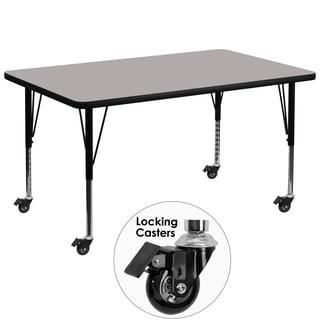 17.5-25.5-Inch Adjustable Height Laminate Mobile Preschool Activity Table