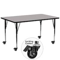 22.37-30.5-Inch Height-adjustable Laminate Mobile Table