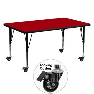 17.37-25.37-Inch Height-adjustable Laminate Mobile Children'S Activity Table