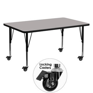 17.5-25.5-Inch Height-adjustable Laminate Mobile Children'S Activity Table