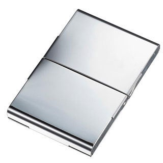 Visol Powell Silverplated Business Card Case