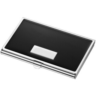 Visol Andrew Black Lacquer Business Card Case
