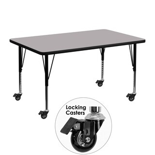 17.37-25.37-Inch Height-adjustable Laminate Mobile Activity Table