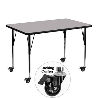 22.25-30.37-Inch Height-adjustable Laminate Mobile Table