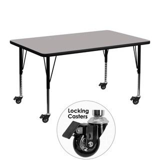17.5-25.5-Inch Adjustable Legs Laminate/ Steel Mobile Preschool Activity Table