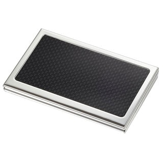 Visol Reach Carbon Fiber Silverplated Business Card Case