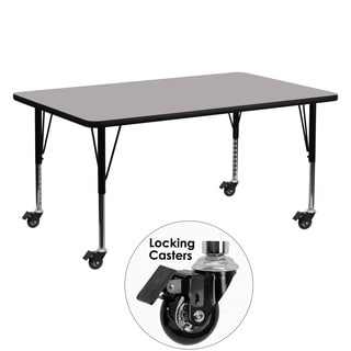17.5-25.5-Inch Adjustable Laminate/ Steel Mobile Preschool Activity Table