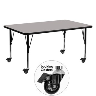 Adjustable Height Mobile Laminate/ Steel Activity Table