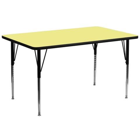 Rectangular HP Laminate Activity Table - Height Adjustable Legs